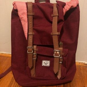 Herschel little America backpack burgundy/maroon